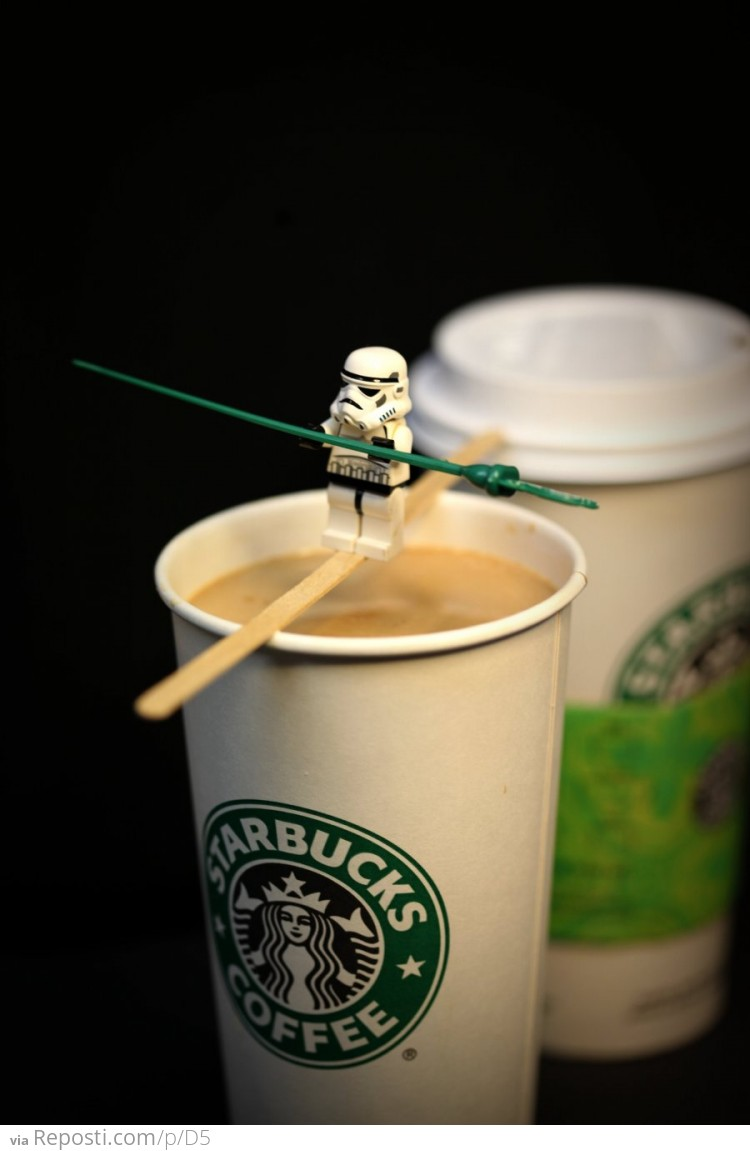 Lego Stormtrooper Tightwalk
