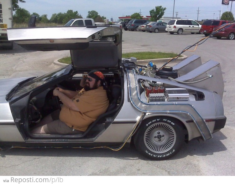 Fatty In The Delorean