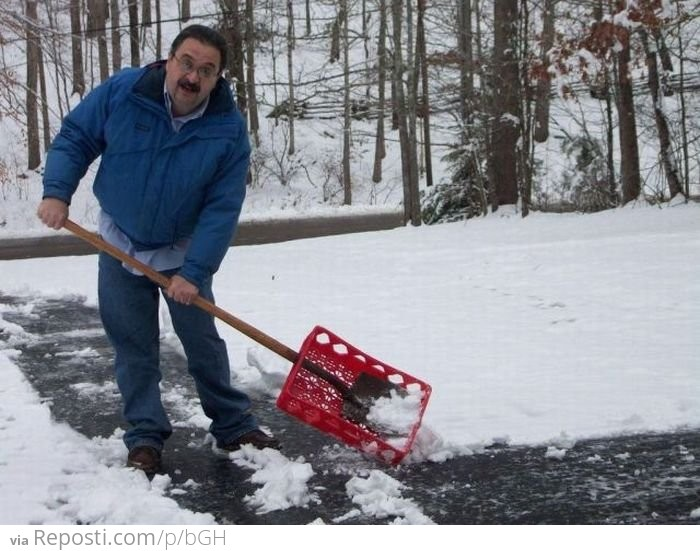 Как сделать лопату снега 179