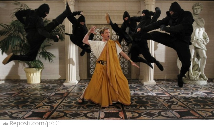 Neil Patrick Harris Fights Ninjas