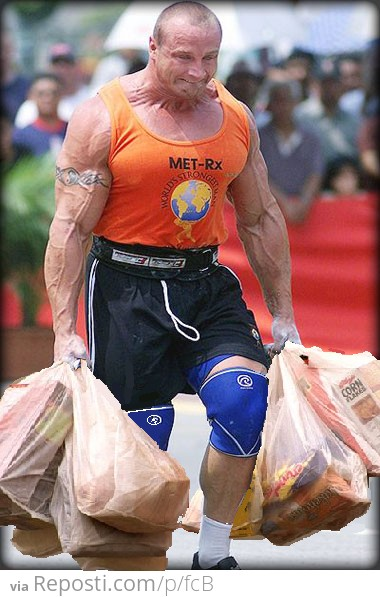 Carrying in groceries as a kid
