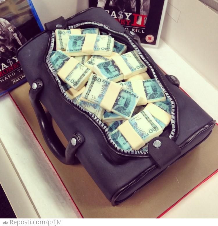 Bag Full Of Money Cake